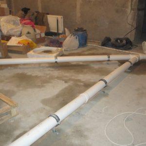 Монтаж канализации загородного дома 350 кв.м. 1