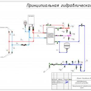 2D проект котельной с настенным электрическим котлом 1